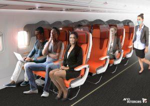 Aviointeriors - glassafe - prototipo de asiento para aviones tras la pandemia del covid-19