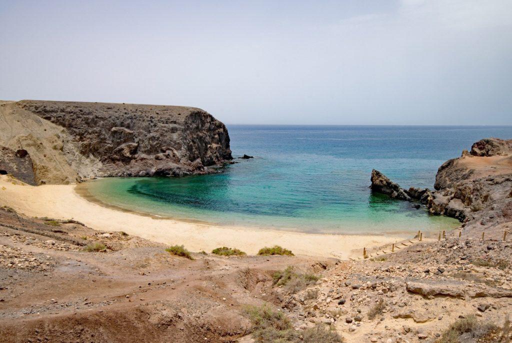 playa del papagayo, Lanzarote, playas que visitar en España