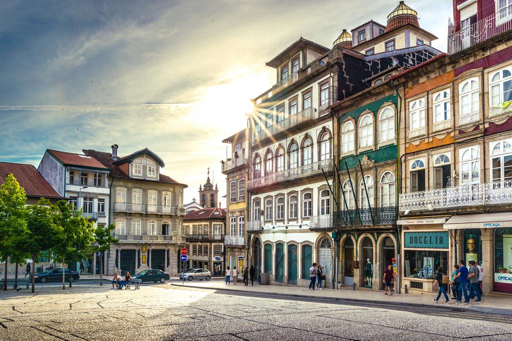 Guimarães, casco antiguo, Portugal
